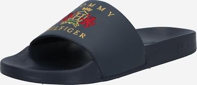 TOMMY HILFIGER Mule en jaune d'or / pétrole / rouge clair, Vue avec produit