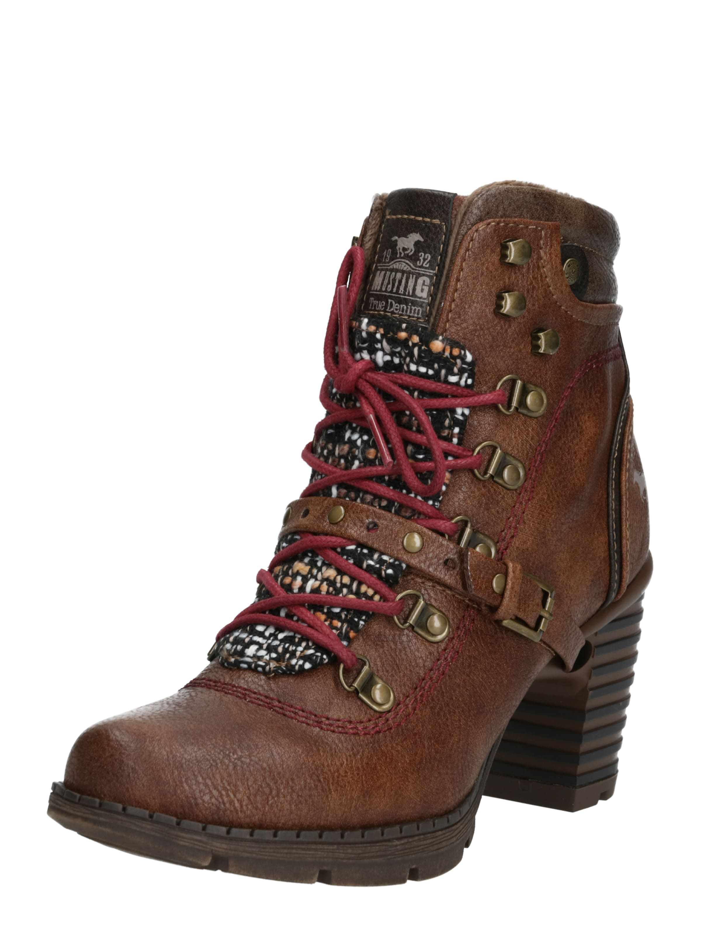 À En Mustang Marron Lacets Bottines WeBxrdoC