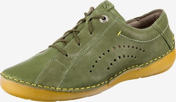 JOSEF SEIBEL Athletic Lace-Up Shoes 'Fergey 73' in Green