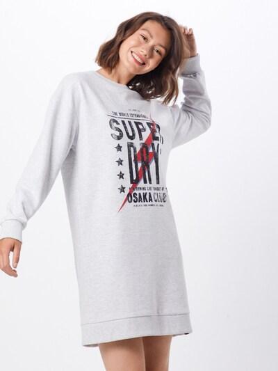 Superdry Kleid 'OSAKA CLUB SWEAT DRESS' in grau, Modelansicht