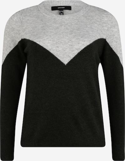 Vero Moda Curve Pullover 'Plaza' in hellgrau / schwarz, Produktansicht