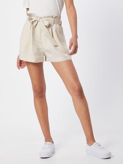 Superdry Pleat-Front Pants 'DESERT PAPER BAG SHORTS' in Beige, View model