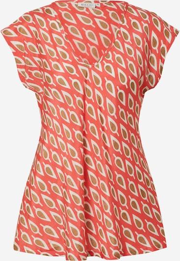 Masai Tričko 'Kani' - svetlohnedá / ohnivo červená / biela, Produkt