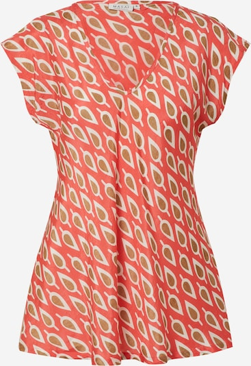 Masai Shirt 'Kani' in de kleur Lichtbruin / Vuurrood / Wit, Productweergave