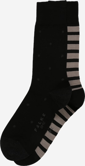 FALKE Socken 'Even Stripe Dot 2-Pack' in beige / schwarz, Produktansicht