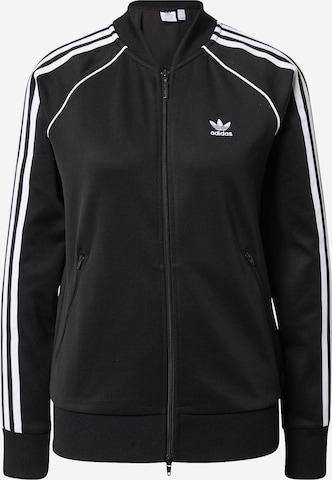 ADIDAS ORIGINALS Zip-Up Hoodie in Black