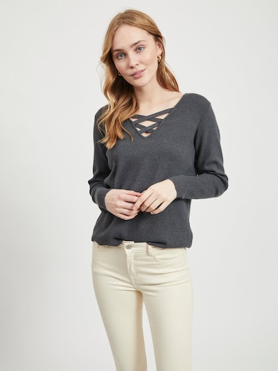 VILA Pullover in grau, Modelansicht