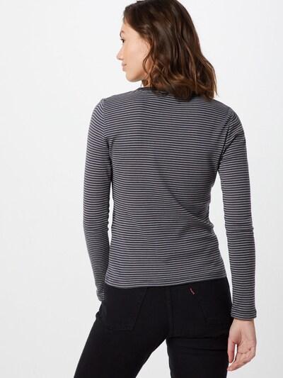 LEVI'S Sweatshirt 'LS BABY TEE' in de kleur Donkergrijs / Wit: Achteraanzicht