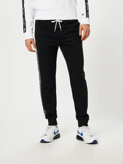 Champion Authentic Athletic Apparel Pantalon en noir / blanc, Vue avec modèle