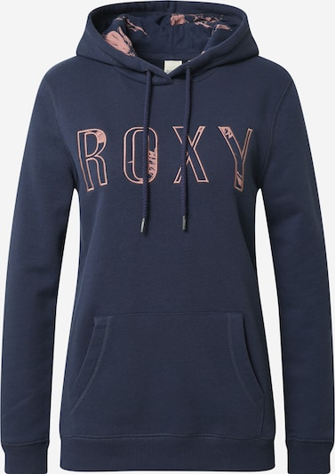 ROXY Sweat-shirt 'RIGHT ON TIME' en bleu nuit / rose ancienne: Vue de face