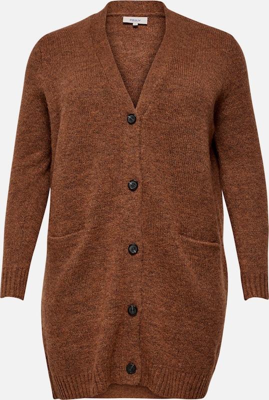 ONLY Carmakoma Cardigan in rostbraun  Markenkleidung für Männer und Frauen