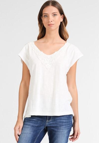 DREIMASTER Shirt in wollweiß: Frontalansicht