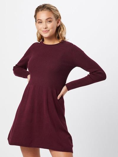 ONLY Gebreide jurk 'ALMA' in de kleur Wijnrood, Modelweergave