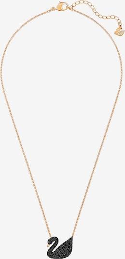 Swarovski Kette 'Swan' in rosegold / schwarz, Produktansicht