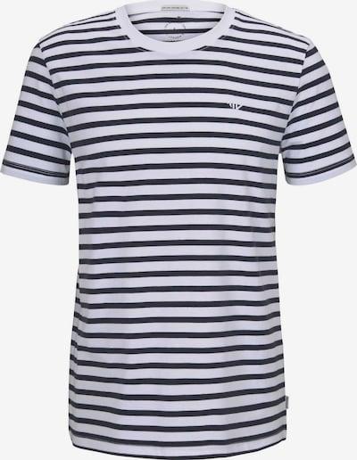 TOM TAILOR DENIM Shirt in de kleur Nachtblauw / Wit, Productweergave