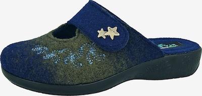 FLY FLOT Pantoffeln in nachtblau / khaki, Produktansicht