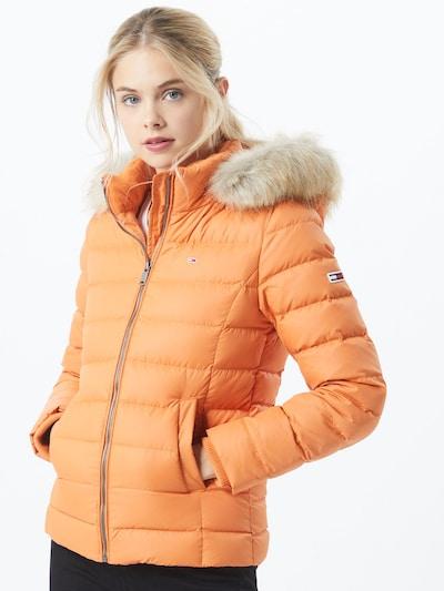 Tommy Jeans Prehodna jakna | oranžna barva, Prikaz modela