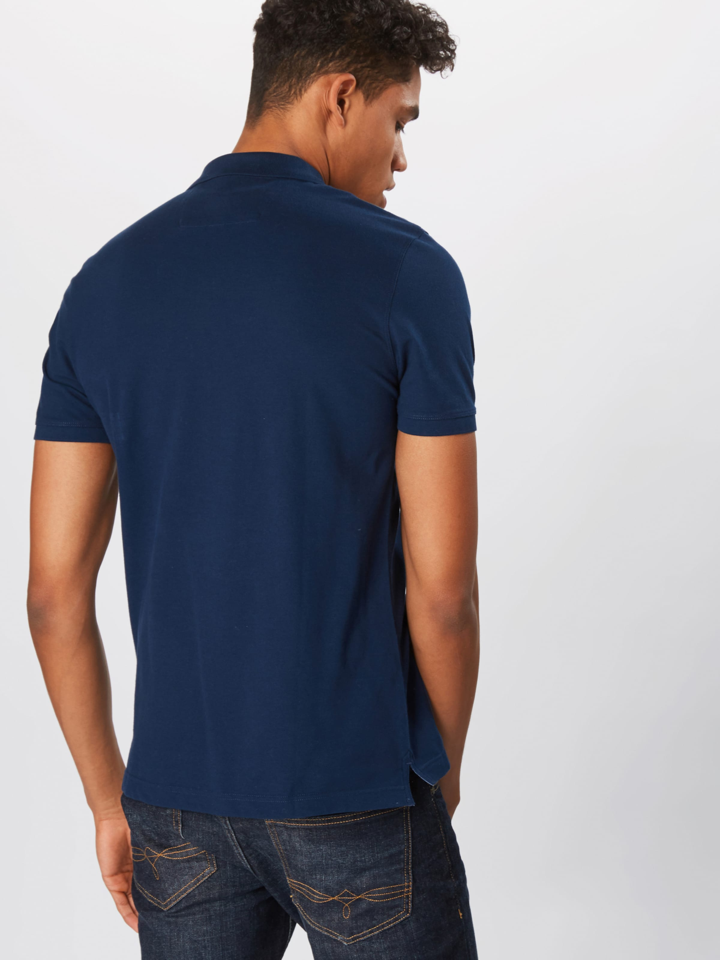 shirt Branded Basics' Pique T Banana Marine 'st Republic Bleu En Polo WIDE29H