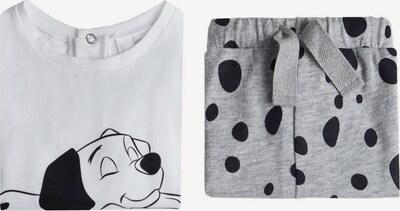 MANGO KIDS Pyjama 'DALMATA' in graumeliert / schwarz / weiß, Produktansicht