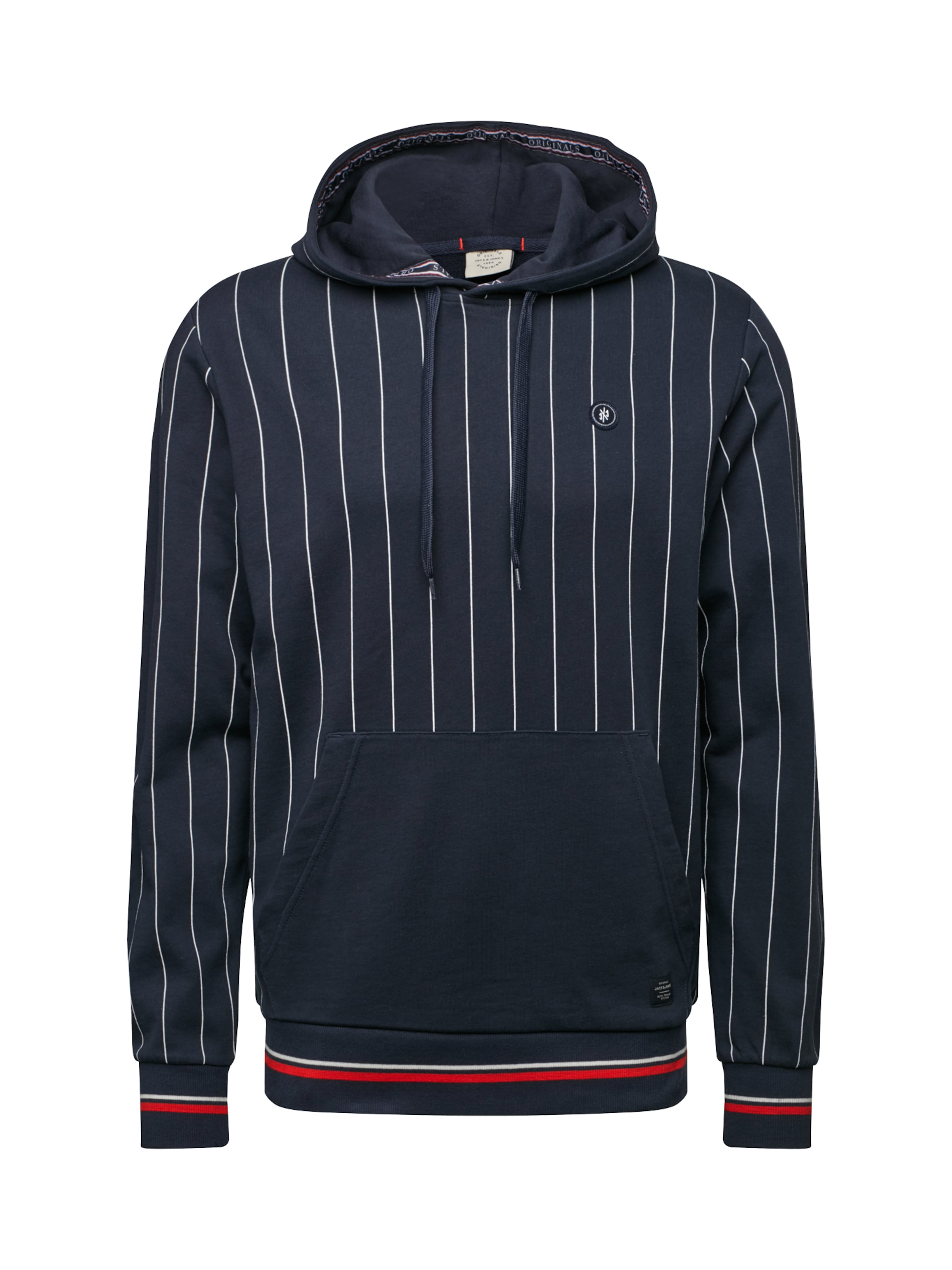 En FoncéBlanc shirt Bleu Jackamp; Jones 'pinstripe' Sweat N8nwmv0