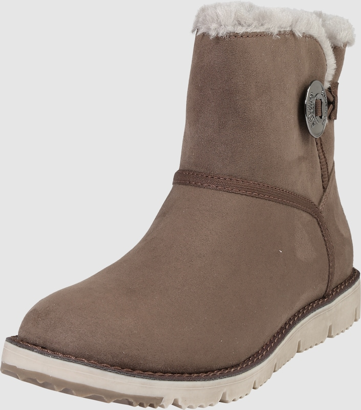 s.Oliver RED LABEL Snowboot mit Logoknopf