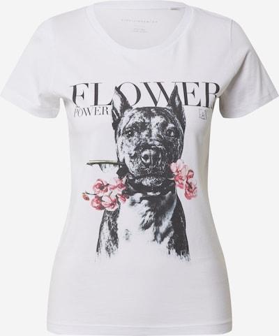 EINSTEIN & NEWTON Shirt 'Flower Dog' in rosa / schwarz / weiß, Produktansicht