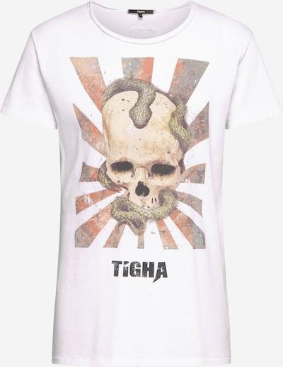 tigha T-Shirt en mélange de couleurs / blanc: Vue de face