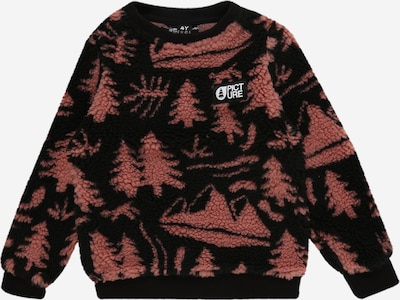 Picture Organic Clothing Sport-Pullover 'Away Crew' in rostrot / schwarz, Produktansicht