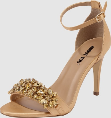 ABOUT YOU Sandalen met riem 'EMILY' in Champagne