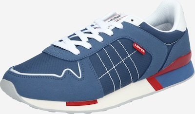LEVI'S Baskets basses 'WEBB' en bleu marine / rouge / blanc, Vue avec produit