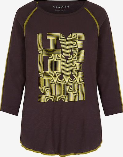 YOGISTAR.COM Shirt 'boogie T' in braun / gelb, Produktansicht