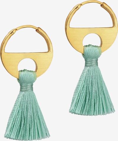 ELLI Oorbellen in de kleur Goud / Jade groen, Productweergave