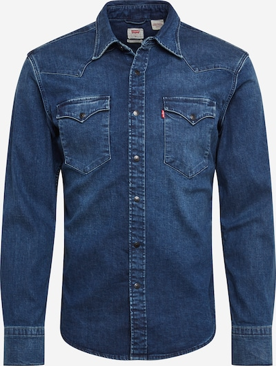 LEVI'S Overhemd 'BARSTOW WESTERN SLIM' in de kleur Blauw denim, Productweergave