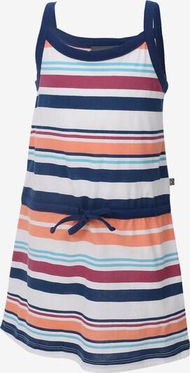 COLOR KIDS Sweatkleid 'Elenora' in navy / hellblau / koralle / rot / weiß, Produktansicht