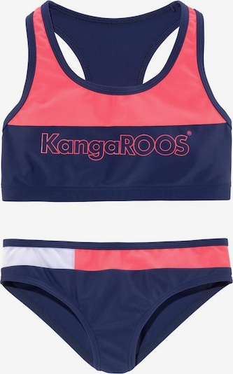 KangaROOS Bustier-Bikini in navy / lachs / weiß, Produktansicht