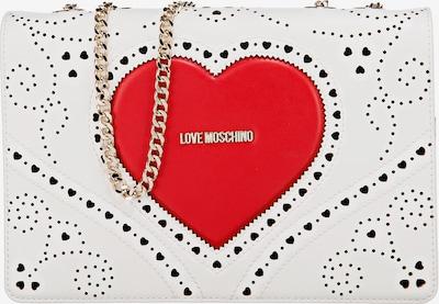 Love Moschino Handtasche in rot / weiß, Produktansicht