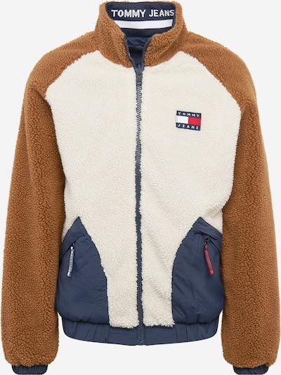 Tommy Jeans Jacke in creme / dunkelblau / braun, Produktansicht