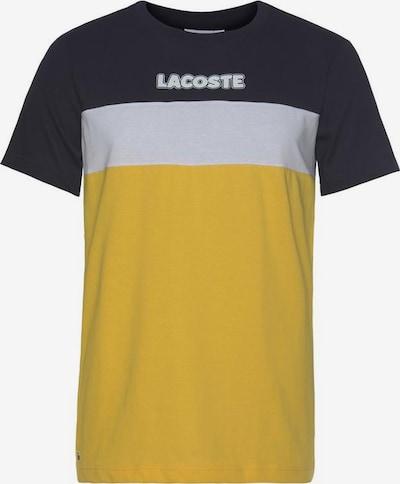 LACOSTE T-Shirt en jaune / noir / blanc, Vue avec produit