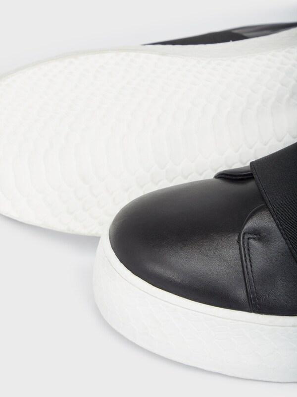 Bianco Leder Plateau Sneaker