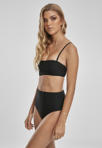 Urban Classics Damen ' Ladies High Waist Bandeau Bikini ' in schwarz, Modelansicht