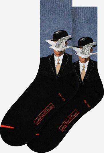MuseARTa Socken in hellblau / mischfarben / schwarz, Produktansicht
