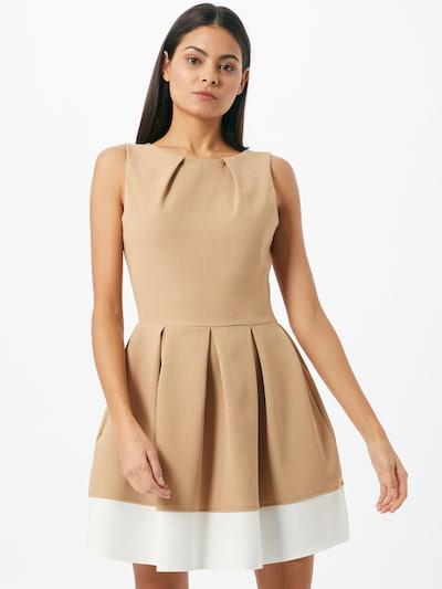 Closet London Kleid in beige / weiß, Modelansicht