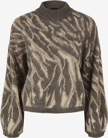 Pieces Maternity Sweater 'Floria' in Brown