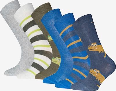 EWERS Skarpety w kolorze niebieski / ciemny niebieski / oliwkowy / ciemnopomarańczowy / białym, Podgląd produktu