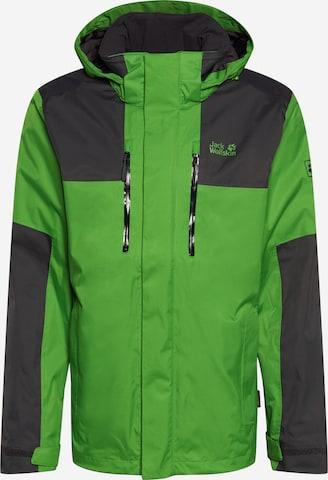 JACK WOLFSKIN Outdoor jacket 'JASPER FLEX' in Green