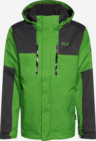 JACK WOLFSKIN Functional jacket 'Jasper Flex' in green / black, Item view