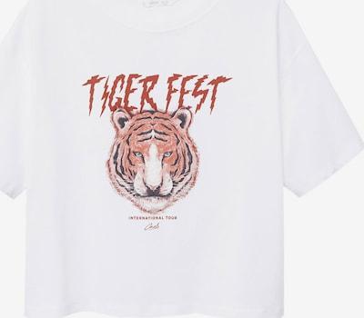 MANGO KIDS T-Shirt 'COOL' in rostrot / schwarz / weiß, Produktansicht