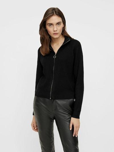 OBJECT Gebreid vest in de kleur Zwart, Modelweergave