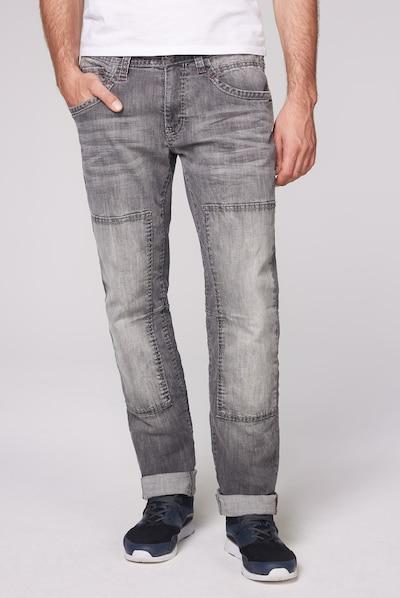 CAMP DAVID Worker Jeans im Vintage Look in grau, Modelansicht