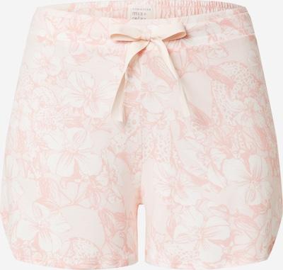 SCHIESSER Pantalón de pijama en rosa / blanco, Vista del producto